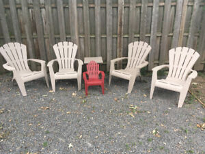 Set de chaises - fauteuils Adirondack / Outdoor chairs