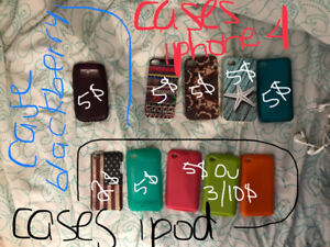Protecteurs ipod, blackberry et iphone 4S