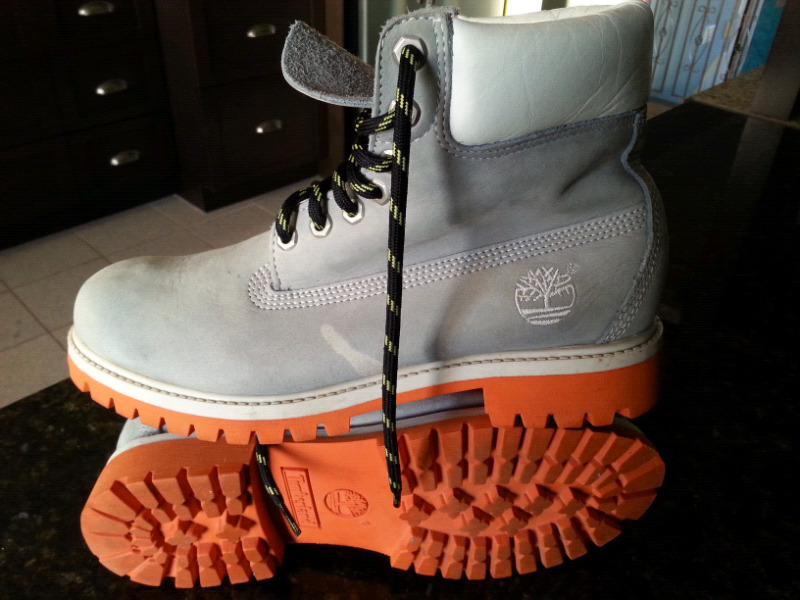 bottes timberland grise
