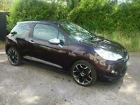 DS3 DSPORT PLUS 1600 PETROL THP CONVERTIBLE,LOW MILES FSH,LEATHER,20K MILES