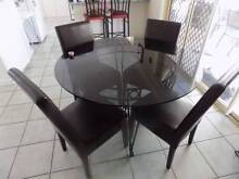 Ornate, Wrought Iron, Glass top Dining Table and Chairs Cedar Grove Logan Area Preview