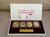 2008 BEIJING SUMMER OLYMPICS 24K GOLD PLATED COINS