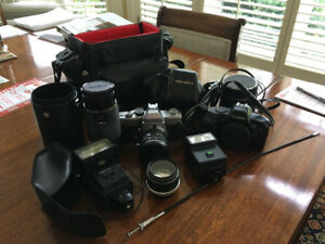 Assorted Film camera equipment