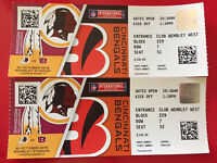 2 X tickets Redskins vs Bengals NFL 30 Nov. Wembley London face value