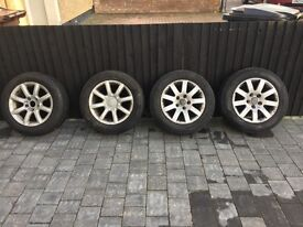 Winter tyres and alloys VW/AUDI 205/60r 15