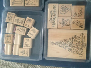 Stampin' up stamps, rollers, ink pads...