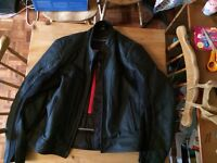 Oxford leather motorcycle jacket
