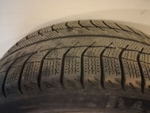 4 WINTER TIRES WITH RIMS FOR SALE !
