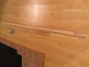 """1-1/4"""" x 2-1/8"""" Solid Wooden Stair Rail / Banister With Brackets"""