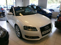 Audi A3 Cabriolet 1.6TDI ( 105ps ) CR 2012MY Sport 1 lady owner only 28k FSH
