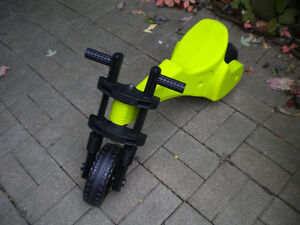 "NEON GREEN ""Y BIKE"", MOTORCYCLE FOR TODDLERS"