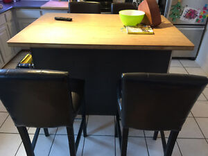 2 Faux Leather Bar stools (Bar Hight)
