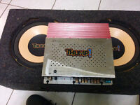 """THUMP Amp + THUMP 10"""" Subwoofers (x2) in Box"""