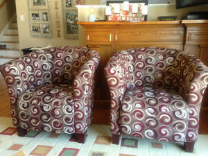 Set of 2 Matching Accent Chairs - Like New!