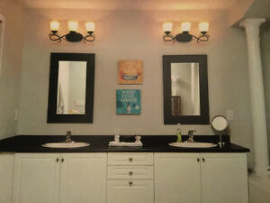 OIL RUBBED BRONCE VANITY LIGHTS
