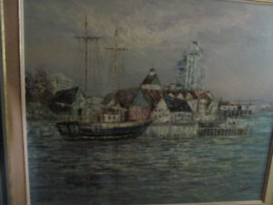 Dramatic large Harbour scene