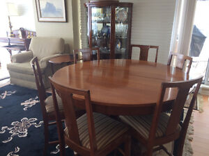 Dining table, 4 inserts, buffet and china cabinet