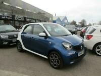 2015 (65) SMART FORFOUR 0.9 TURBO PRIME Blue Manual Petrol Bluetooth Climate FSH