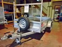 JUST TRAILERS SINGLE AXLE BRAKED GENERAL PURPOSE TRAILER WITH SIDES AND LADDER