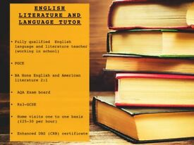English literature and language tutor. Manchester/Salford