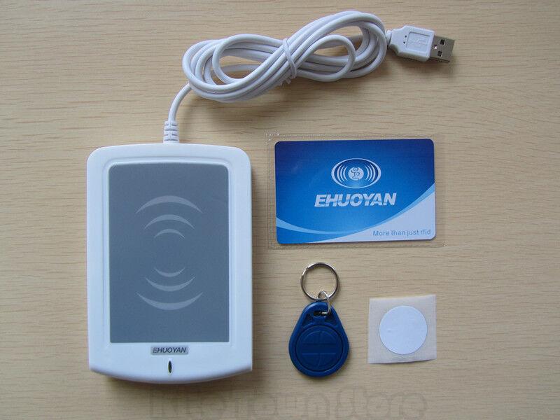 USB RFID 13.56MHz Mifare Reader Writer + SDK IC card keyfob NFC Tag eReader