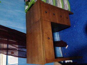 Desk or sewing machine table & stool