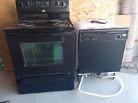 dishwasher, stove