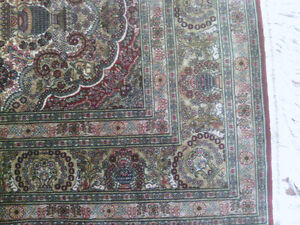 Very Fine Hereke Hand-Knotted Silk Rug - 800-850 kpsi North Shore Greater Vancouver Area image 4