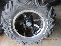 4-- 26X14 IN. MAXXIS BIGHORN RADIAL TIRES ON14IN. ALLOY RIMS
