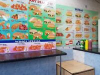 CHICKEN SHOP FOR SALE WITH 2 BEDROOM FLAT