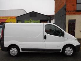 Renault Trafic SWB panel van with super rare up and over tailgate 1 year MOT 24