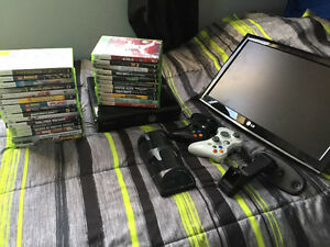 Xbox 360 lot with tv