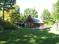 Magnifique maison ancienne dans la forêt à 1h de Montreal 80km