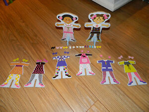 Melissa & Doug Tops and Tights Magnetic Dress-Up Wooden Doll