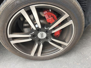 Audi q7 rims 90% goodyear tires