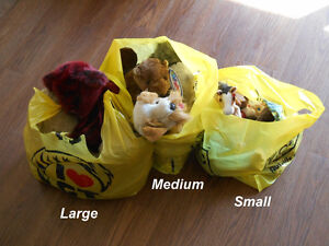 20 As-New Stuffed Toys in Three Bags for $20