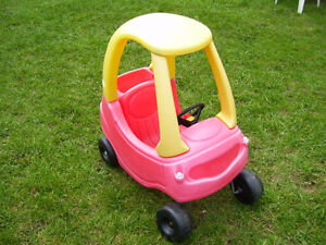 """Babies first car by """"Little Tykes""""."""