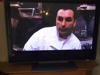 """42"""" hitachi hd plasma with remote no problems with it"""