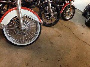 Vee rubber tires