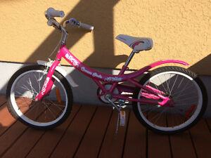 Girls pink bike