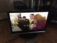 "22"" lcd tv free view HDMI pc DVD player scart ect"