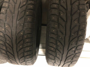 4 Cooper Weathermaster WSC tires 235 65r18 RIMS/STUDDED