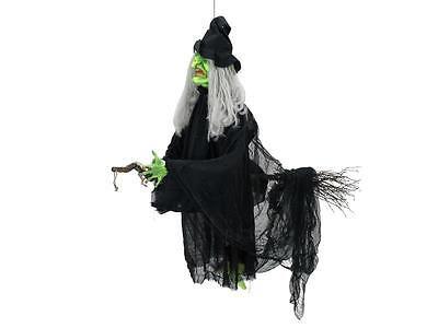 Auf Halloween (Europalms Halloween Flughexe auf Besen mit Licht-, Sound-, und Bewegungseffekte)