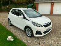 Peugeot 108 VTI Active.3 door petrol hatch, air con, zero/£0 Road tax
