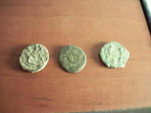3 Ancient Roman Empire Coins ( 226-246 BC )