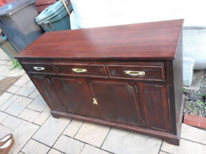 Side board with built in cutlery section