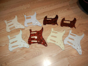 Selection of Strat and Tele pickguards