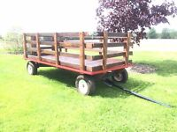 Mini hay wagon people carrier 4'x8'
