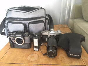 Konica / Yashica Film camera lot