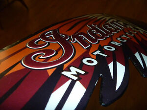 NEW INDIAN MOTORCYCLE METAL HEAD SIGN